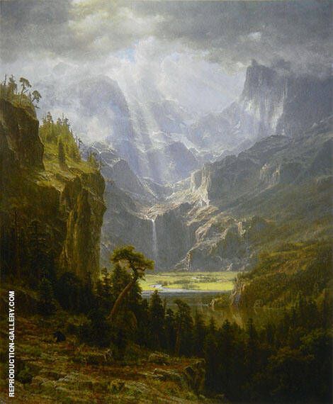 Rocky Mountains Landers Peak By Albert Bierstadt