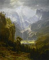 Rocky Mountains Landers Peak By Albert Bierstadt