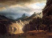 In Western Mountains By Albert Bierstadt