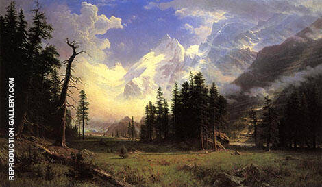 The Morteratsch Glacier Upper Engadine Valley 1895 By Albert Bierstadt
