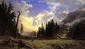 The Morteratsch Glacier Upper Engadine Valley 1895 By Albert Bierstadt