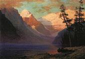 Evening Glow, Lake Louise, Rocky Mountains By Albert Bierstadt