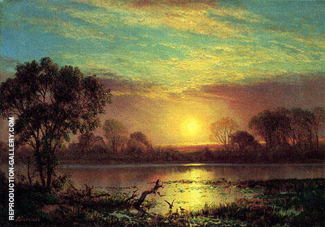 Owens Lake, California By Albert Bierstadt