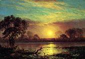 Owens Lake, California By Albert Bierstadt