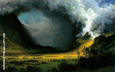 Storm in the Mountains c1870 By Albert Bierstadt