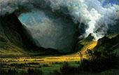 Storm in the Mountains c1870 By Albert Bierstadt