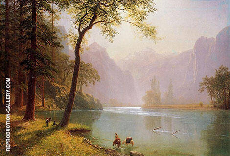 Kern's River Valley, California, 1871 By Albert Bierstadt