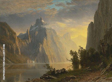 Lake in the Sierra Nevada By Albert Bierstadt