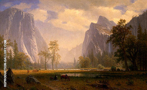 Looking Up the Yosemite Valley Painting By Albert Bierstadt