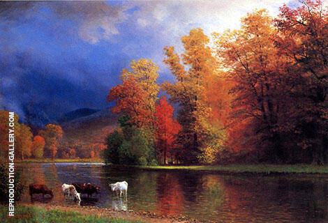 On the Saco By Albert Bierstadt