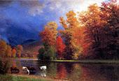 On the Saco By Albert Bierstadt