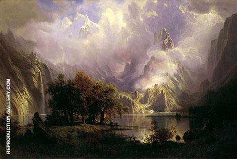 Rocky Mountain Landscape 1870 By Albert Bierstadt