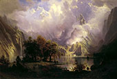 Rocky Mountain Landscape 1870 By Albert Bierstadt