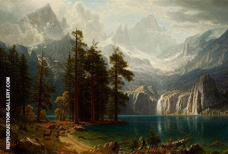 Sierra Nevada c1871 Painting By Albert Bierstadt - Reproduction Gallery
