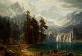 Sierra Nevada c1871 By Albert Bierstadt