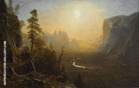 Yosemite Valley, Glacier Point Trail 1873 By Albert Bierstadt