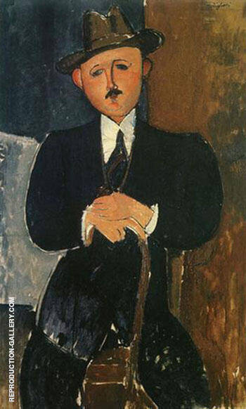 Seated Man with a Cane 1918 By Amedeo Modigliani