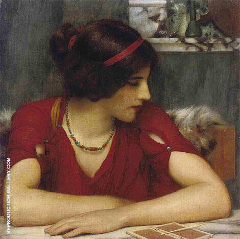 Reproduction of Classical Maiden 1899 by John William Godward | Oil Painting Replica On CanvasReproduction Gallery