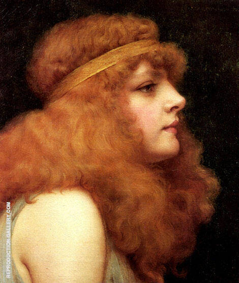 Reproduction of An Auburn Beauty 1895 by John William Godward | Oil Painting Replica On CanvasReproduction Gallery