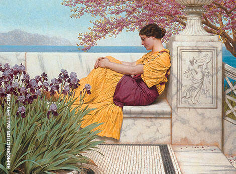Under the Blossom that hangs on the Bough 1917 By John William Godward