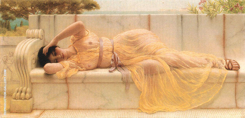 Girl in Yellow Drapery 1901 By John William Godward