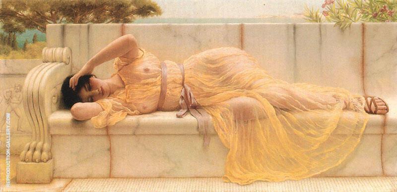 Girl in Yellow Drapery 1901 By John William Godward