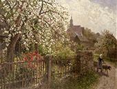 Apple Blossoms By Albert Ernst Muhlig