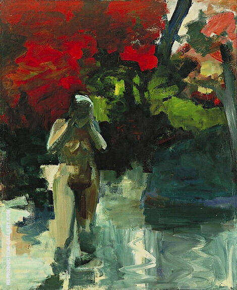 Girl Wading 1959 By Elmer Bischoff