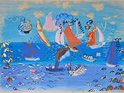 Seascape with Sailboats By Raoul Dufy