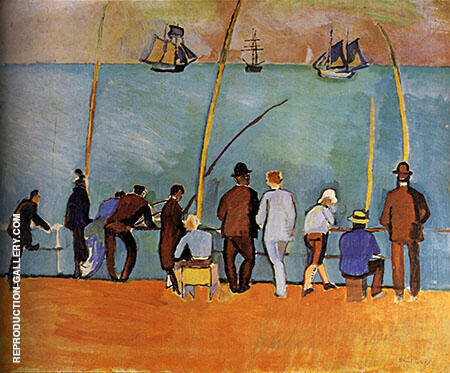 Anglers 1908 By Raoul Dufy