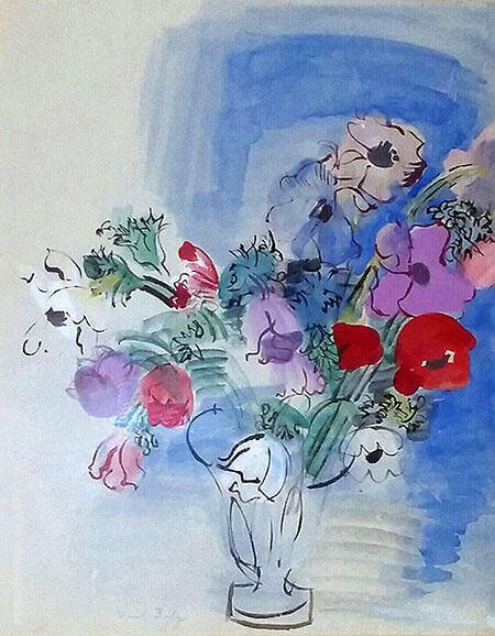 Base of Anemones Painting By Raoul Dufy - Reproduction Gallery