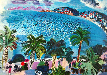 Bay of Angels Nice 2 Painting By Raoul Dufy - Reproduction Gallery