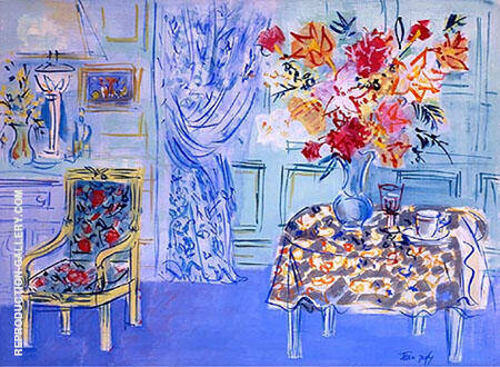 Blue Interior Painting By Raoul Dufy - Reproduction Gallery