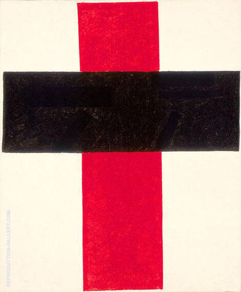 Large Hieratic-Suprematist Cross By Kazimir Malevich