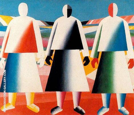 Girls in the Field 1928 By Kazimir Malevich