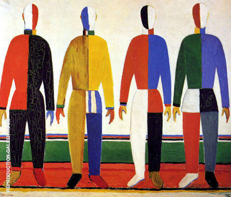 Sportsmen 1928 By Kazimir Malevich