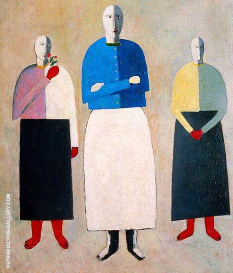 Three Women c1928 By Kazimir Malevich