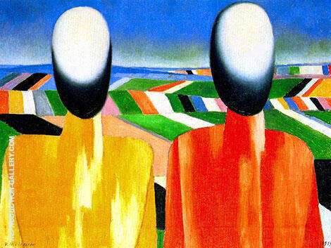 Peasants By Kazimir Malevich