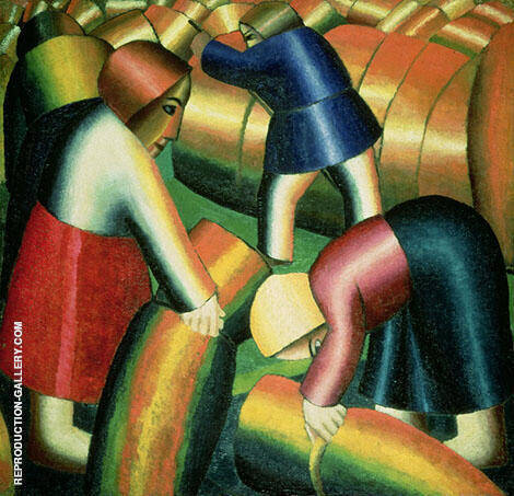 Taking in the Rye By Kazimir Malevich