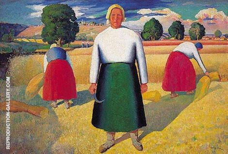 Reapers 1929 By Kazimir Malevich