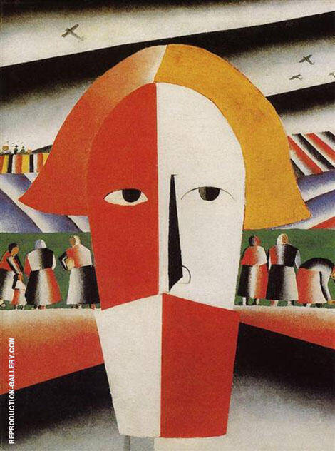 Head of a Peasant 1929 By Kazimir Malevich