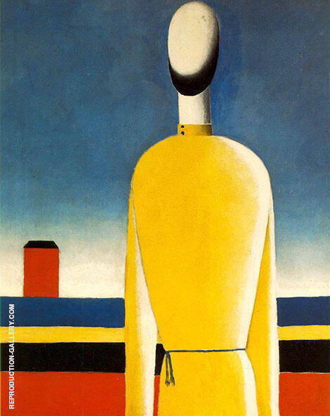 Half Figure in Yellow Shirt By Kazimir Malevich