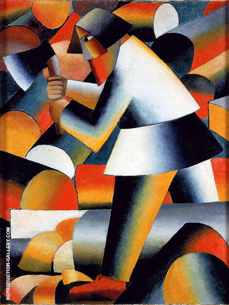 The Woodcutter 1912 By Kazimir Malevich