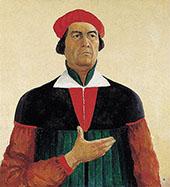 Self-Portrait 1933 By Kazimir Malevich