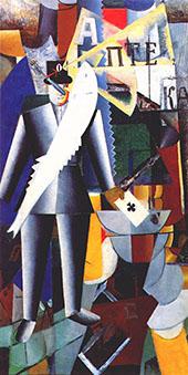 The Aviator 1914 By Kazimir Malevich