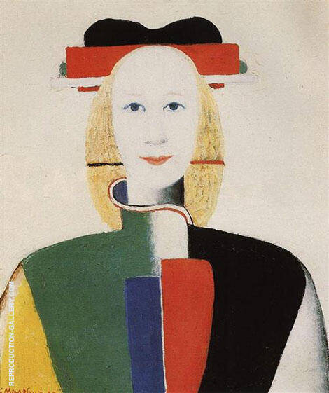 Girl with Comb in her Hair By Kazimir Malevich