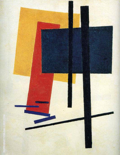 Suprematism 1915 B Painting By Kazimir Malevich - Reproduction Gallery