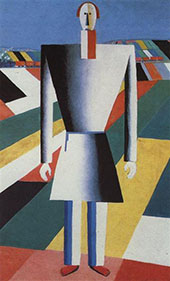 Peasant in the Fields 1929 By Kazimir Malevich
