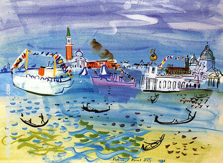Boats in Venice By Raoul Dufy