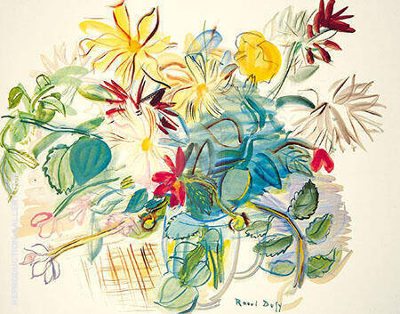 Bouquet of Flowers Painting By Raoul Dufy - Reproduction Gallery